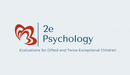 Logo for 2e Psychology, a practice specializing in evaluation of gifted and twice-exceptional children